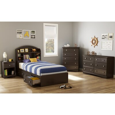 South Shore Morning Dew Platform Customizable Bedroom Set