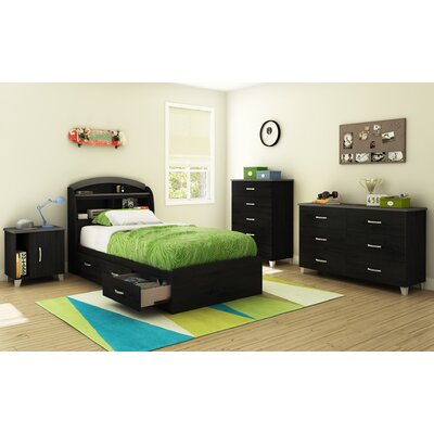 South Shore Lazer Twin Platform Customizable Bedroom Set