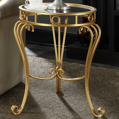 Convenience Concepts Coast Julia Decorative Mirrored End Table Image