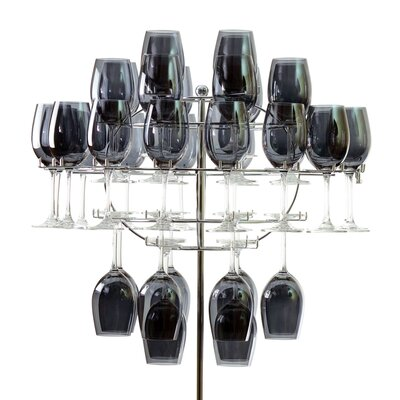 Ten Strawberry Street Chandelier Tabletop Wine Glass Rack