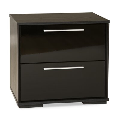 South Shore Mikka 2 Drawer Nightstand