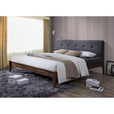 Wholesale Interiors Baxton Studio King Upholstered Platform Bed
