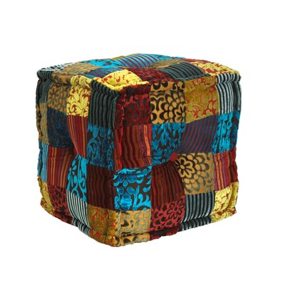 Elements Velvet Patch Ottoman