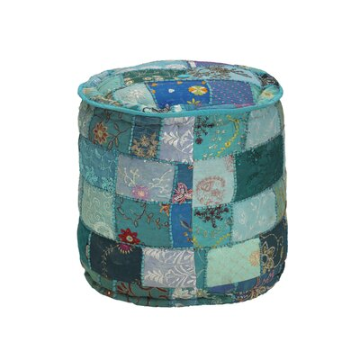 Elements Embroidered Round Pouf