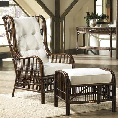 Panama Jack Home Bora Bora 2 Piece Wingback Chair and Ottoman