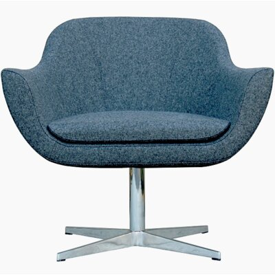B&T Design Green Camira Wool Lounge Chair