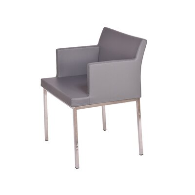 B&T Design Soho Metal Base Eco Leather Arm Chair