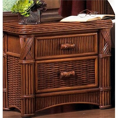 ElanaMar Designs Barbados 2 Drawer Nightstand