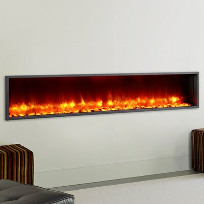 """Dynasty 79"""" Built-in LED Wall Mount Electric Fireplace ..."""