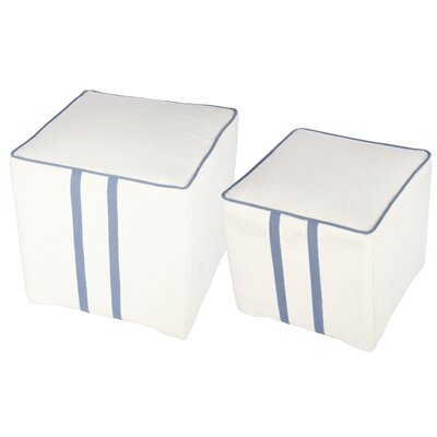 Donny Osmond Home 2 Piece Upholstered Cube Ottoman Set