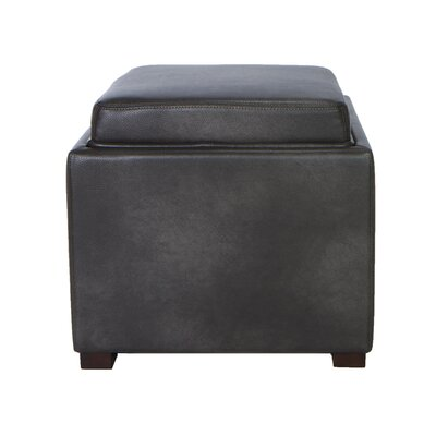 Cortesi Home Mavi Tray Top Storage Ottoman