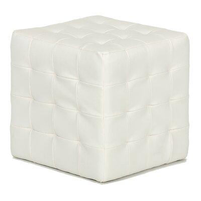Cortesi Home Jojo Leather Cube Ottoman