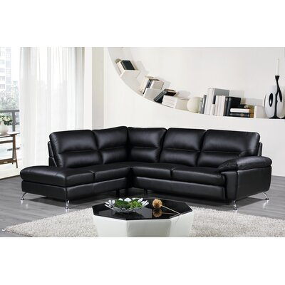 Cortesi Home Boston Leather Sectional