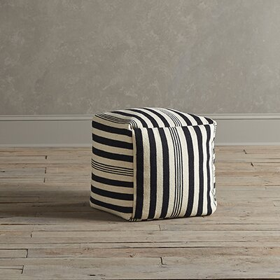 Birch Lane Felix Striped Pouf
