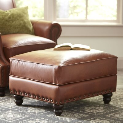 Birch Lane Landry Leather Ottoman