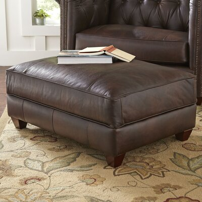 Birch Lane Hawthorn Leather Ottoman