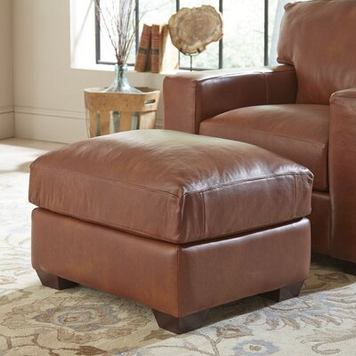 Birch Lane Pratt Leather Ottoman