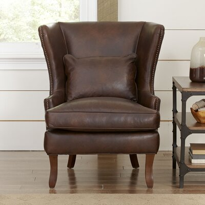 Birch Lane Solomon Leather Wingback Chair