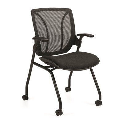Global Total Office Roma Nester Mid-Back Mesh Chair with Arms