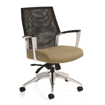Global Total Office Global Accord Mesh Mid Back Chair with Arms
