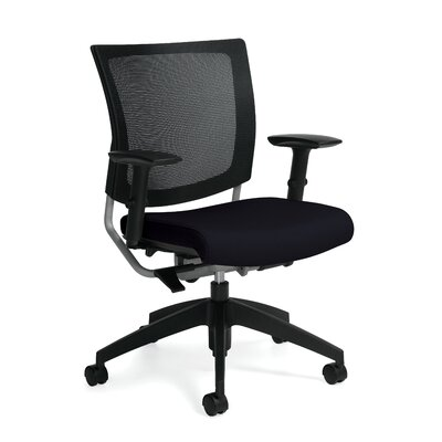 Global Total Office Graphic Mid-Back Posture Office Chair with Mesh Back