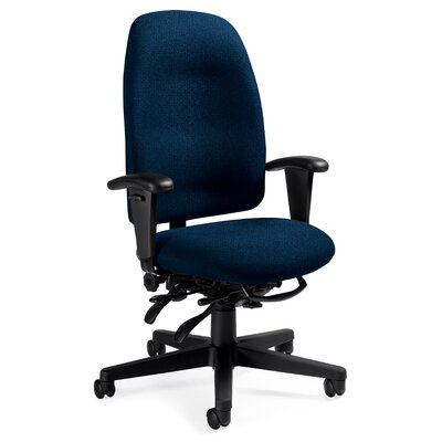 Global Total Office High-Back Pneumatic Multi-Tilter Office Chair with T-Arms