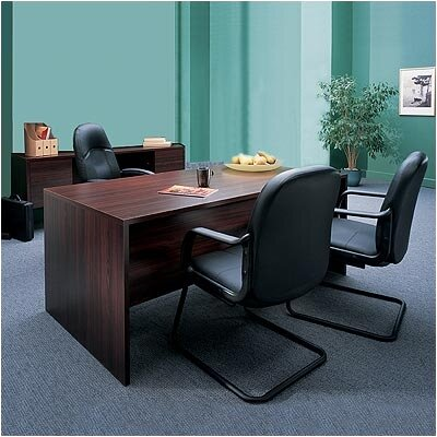 Global Total Office Genoa 2-Piece Standard Desk Office Suite