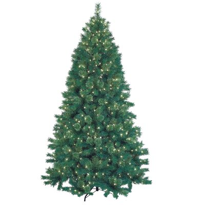 Jeco Inc. 7.5' Green Artificial Christmas Tree with 600 Lights and ...
