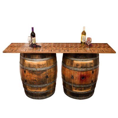 Napa East Collection Double Half Barrel Pub Table