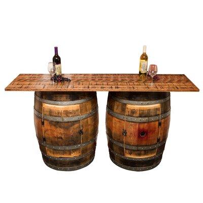 Napa East Collection Double Half Barrel Pub Table