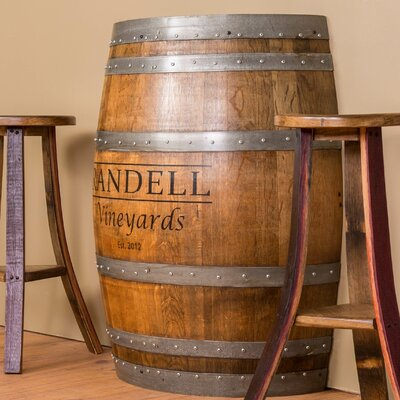 Napa East Collection Personalized Half Barrel Console