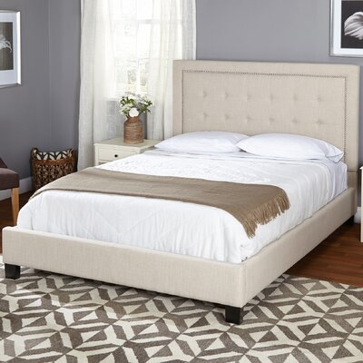 TMS Queen Upholstered Panel Bed