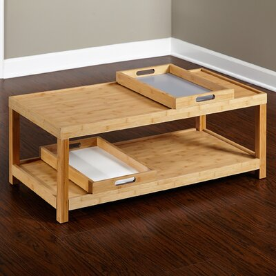 Latitude Run Christopher Coffee Table with Trays