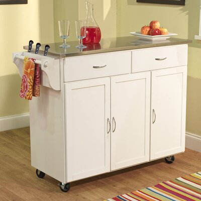 TMS Berkley Kitchen Island with Stainless..