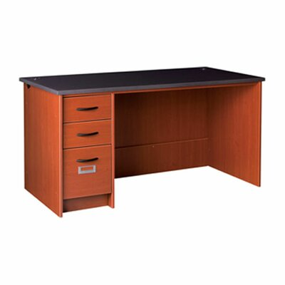Stevens ID Systems Library Computer Desk with Single Pedestal