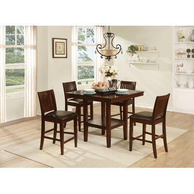 Woodhaven Hill Galena 5 Piece Counter Height Dining Set