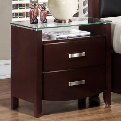 Woodhaven Hill Lyric 2 Drawer Nightstand