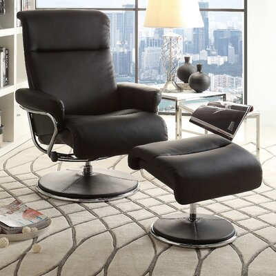 Woodhaven Hill Caius Swivel Recliner and Ottoman