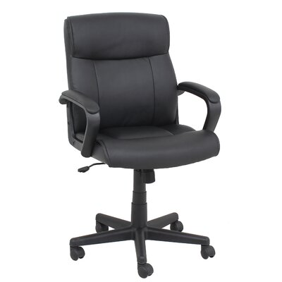Barcalounger High-Back Leather Conference Chair with Arms