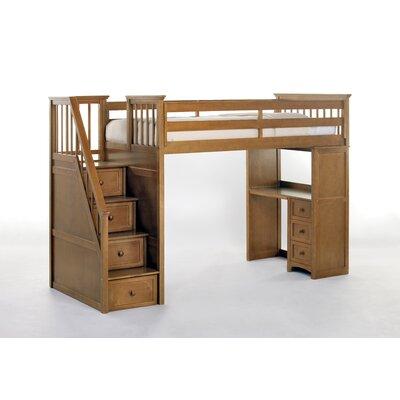 NE Kids School House Stair Loft w/ Desk End