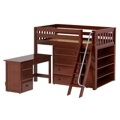 Maxtrix Kids Katching3 Low Loft Bed with Storage