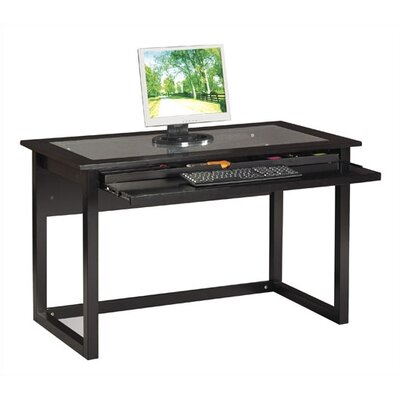 OSP Designs Meridian Computer Desk in Black Image