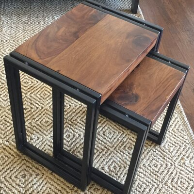 Bungalow Rose Zara 2 Piece Nesting Tables