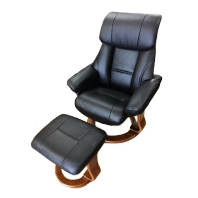 World Source Design Alfredo Leather Recliner and..