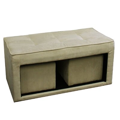 ORE Furniture Storage Ottoman with Hidden..