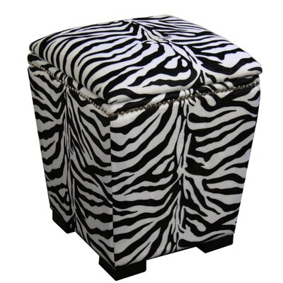 ORE Furniture Zebra Storage Ottoman