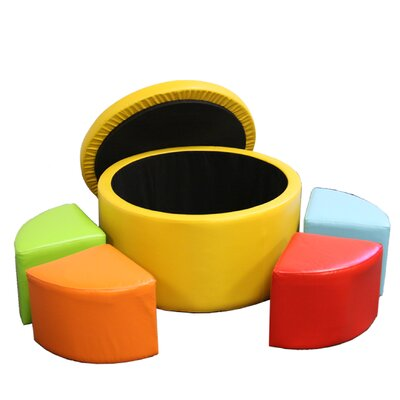 ORE Furniture Round Storage Ottoman with ..