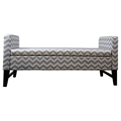 ORE Furniture Chevron Upholstered Bedroom Storage Bench