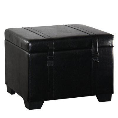 ORE Furniture Leather Storage Ottoman