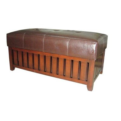 ORE Furniture Wooden Storage Bench with F..